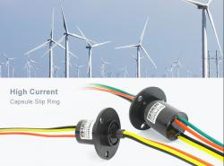 Application for small wind turbine of Senring large current slip ring
