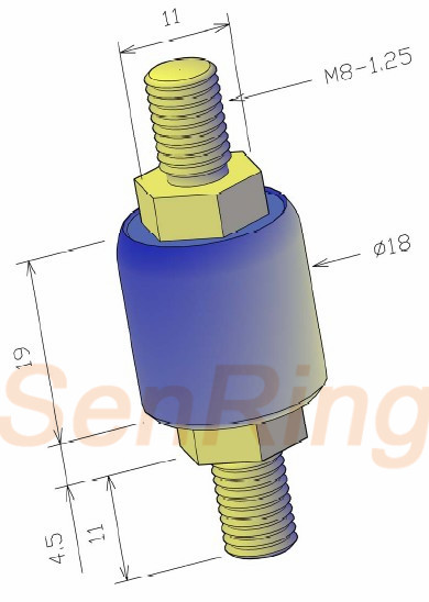 a1m5 series A1M5 Series Mercury Slip Ring(1circuits@50A Power Current) mercury slip ring Drawing