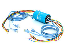 EH1256-01 Series Gigabit Ethernet Slip Ring (1 Channel Gigabit Ethernet+0~22circuits Power/Signal)